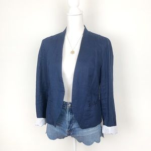 Cynthia Rowley Linen Fitted Career Blazer Jacket